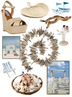 Summer 2012 Beach Wedding Ideas + Driftwood Garland. All Products available at @Koyal Wholesale (except the shoes of course)