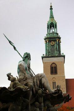 Neptune Fountain in Berlin, Germany