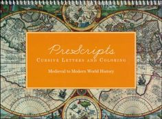 PreScripts Cursive Letters & Coloring: Medieval to Modern History