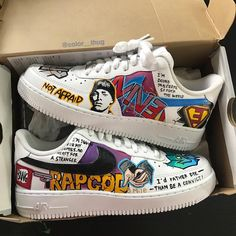 Custom Sneaker Customization Video By color__thug – louis vuitton shoe sneakers Custom Painted Shoes, Custom Shoes, Eminem, Jordan Shoes Girls, Nike Shoes Air Force, Aesthetic Shoes, Hype Shoes, Fresh Shoes, Custom Sneakers