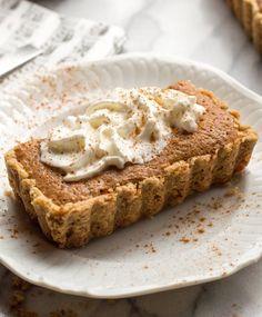 Pear Tart with Walnut Crust x
