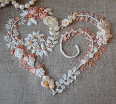 I ❤ embroidery . . . Beautiful and Delicate Embroidered Heart 3