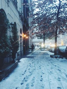 Upper East Side. New York, NY. Covered in snow.