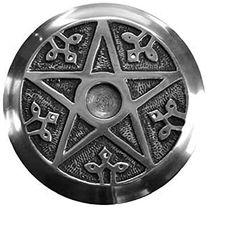 Pentacle Incense Metal Burner Round 45 inch  Altar Tile ** You can find more details by visiting the image link.