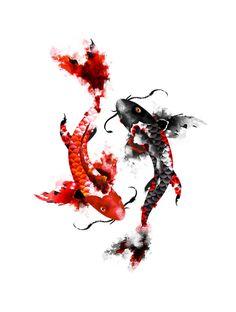 koi.. this would be a beautiful tattoo *~<3*Jo*<3~* #art #design