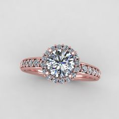 rose gold engagement ring with diamonds and by EternityCollection