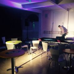 setting up for tonight's gig @gracepetrie 4 on the door from 7.00pm @vhradstock @whats_on_somerset @theatrebath #musicgig #tonight