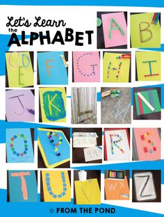 22 Worksheet-free ways to practice letters of the alphabet. Frog Spot: Let's Learn the Alphabet - More Bright Ideas! Education And Literacy, Preschool Letters, Early Literacy, Preschool Learning, Kindergarten Activities, Teaching Kids, Preschool Ideas, Teaching Resources, Alphabet Crafts