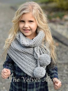 CROCHET PATTERN-The Pennon Shawl toddler child by Thevelvetacorn