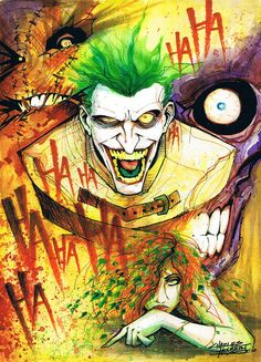 Find images and videos about batman, joker and the joker on We Heart It - the app to get lost in what you love. Joker Y Harley Quinn, Joker Dc, Joker Comic, Joker Arkham, Comic Book Characters, Comic Books Art, Comic Art, Der Joker, Im Batman