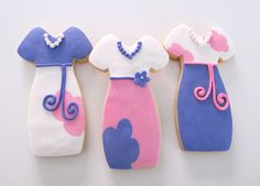 Floral Dress cookie by L sweets, via Flickr