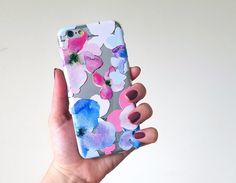 Watercolor Flowers iPhone 6 Case, pastel phone case, iphone 5 case, flexible phone cover, transparent silicone iphone case, floral galaxy s6 by LovinaCases on Etsy https://www.etsy.com/listing/238351057/watercolor-flowers-iphone-6-case-pastel