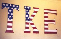 TKE American Flag Letters