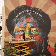 """533 curtidas, 8 comentários - DionisioArte (@dionisioarte) no Instagram: """"No último #fds rolou o festival MURO em Lisboa. Organizado pela @galeria_de_arte_urbana, ele reuniu…"""""""
