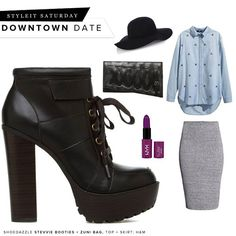 Daytime downtown date? Go for an adorably laid-back look! #ShoeDazzle
