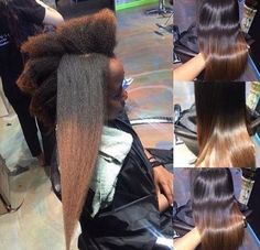 KinkyCurly Relaxed Extensions Board Shrinkage