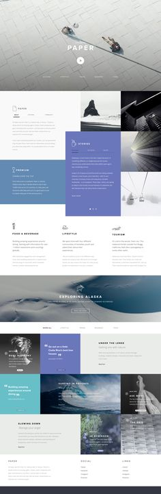 Paper Homepage concept by Jonathan