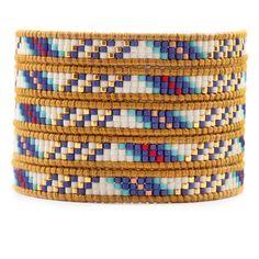 Chan Luu - Blue Mix Beaded Wrap Bracelet on Henna Leather, $210.00 (http://www.chanluu.com/wrap-bracelets/blue-mix-beaded-wrap-bracelet-on-henna-leather/)