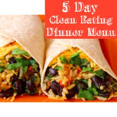 Being prepared is what keeps me on track.  This 5 Day Clean Eating Dinner Menu will keep you on track for sure!  #ontrack #cleaneating #dinnermenu