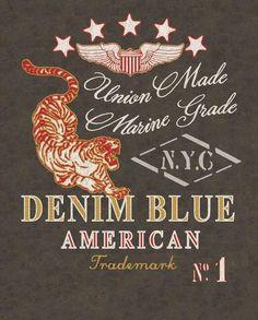 Vintage Airforce - Denim Blue by Kristiaan Passchier, via Behance