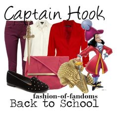 Captain Hook by fofandoms on Polyvore featuring polyvore, fashion, style, Topshop, Boohoo, TWINTIP, Dorothy Perkins, Jennifer Fisher, Kieselstein-Cord and Disney