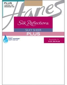 57e887fa6e4 Hanes - Silk Reflections Womens Plus-Size Control Top Enhanced Toe  Pantyhose - Walmart.com