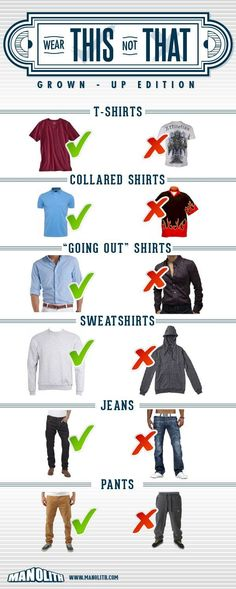 The basics for looking good- there you go, no more excuses!!! #menswear #style #basics