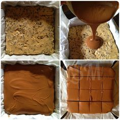 Chocolate Chip Cookie Dough Bars: i think i will try a chocolate and nutella topping instead of peanut butter!