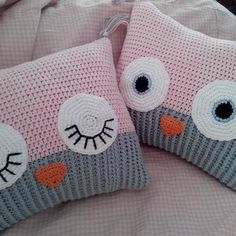 Embroidery for Beginners & Embroidery Stitches & Embroidery Patterns & Embroidery Funny & Machine Embroidery Selling Crochet, Diy Crochet And Knitting, Crochet Fox, Easy Crochet Patterns, Crochet Gifts, Crochet For Kids, Crochet Owl Pillows, Crochet Cushion Cover, Easter Pillows