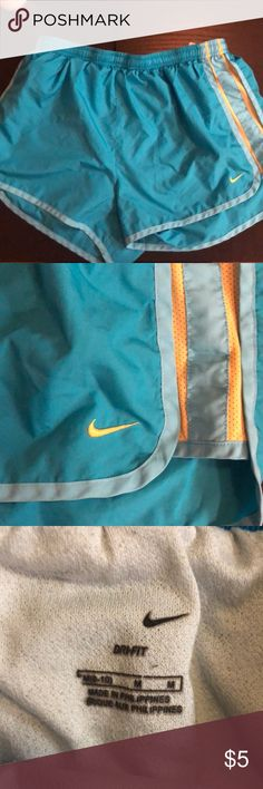 Running shorts Nike Turquoise Tempo Running shorts Nike Shorts