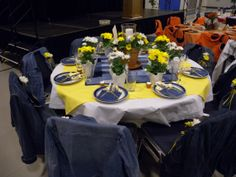 denim diamonds party | Adrift On The Lake: 30 Decorated Theme Tables! (Part 3) Diamond Decorations, Ball Decorations, Blue Jean Wedding, Denim Party, Diamond Party, Diamond Theme, Bling Party, Inexpensive Wedding Invitations, Patchwork Table Runner