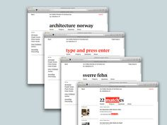 Identity and online publication for www.architecturenorway.no. With Ole Sletten and Siri Østvold.