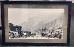 Custom framed vintage photo of the town of Ouray, Colorado. Beautiful. Framed by FastFrame of LoDo. #art #framing #denver #colorado #ouray #photo