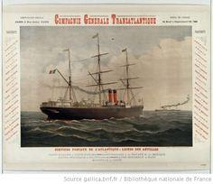 Compagnie Générale Transatlantique... Services postaux de l'Atlantique : Lignes des Antilles... : [affiche] / [non identifié] - 1