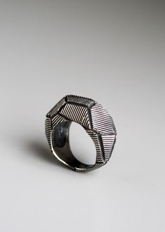 Polygon Ring by dmdmetal on Etsy, $210.00
