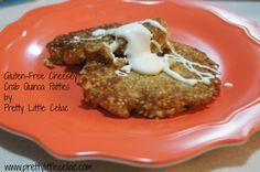gluten-free cheesy quinoa crab patties