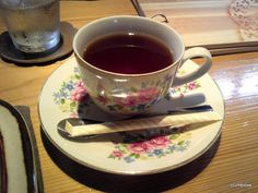 Hot Tea at Nagomi Kitchen Hoshi. I used the sugar, but I don't these days!