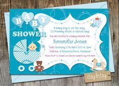 PRINTABLE Baby Shower Invitation  Baby Boy  by ItsyBitsyCreative, $16.00
