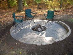 backyard patio designs with outdoor kitchen and gas fire pit - Google Search