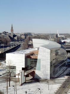 KIASMA in Helsinki, Finland, by architect Steven Holl