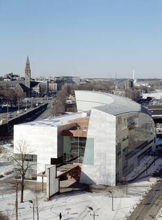 KIASMA in Helsinki, Finland, by architect Steven Holl