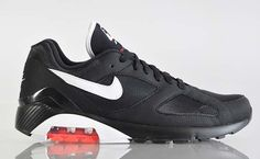 Nike Air Max 180 Black-Red 505016 008   Air Total Foamposite Max    Pinterest   Nike, 180