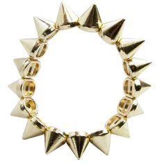Antique Large Women Spiked Stud Rivet Punk Base Metal Stretch Statement Bracelet, Gold, http://www.amazon.com/dp/B0095EOMV0/ref=cm_sw_r_pi_awdm_LXqrub01YJGW4