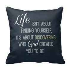 Inspirational Life and God Quote Throw Pillow #pillows