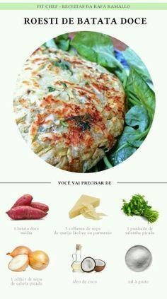 Roesti de batata doce                                                                                                                                                                                 Mais