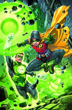Robin #4 - Green Lantern variant cover by Howard Porter *
