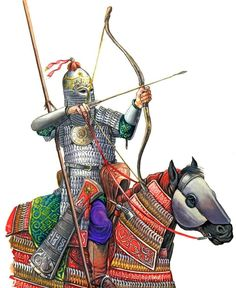 A.E. Negin. Rider of the western ulus of the Golden Horde Medieval Armor, Medieval Fantasy, Persian Warrior, Medieval Drawings, Golden Horde, Sassanid, Ancient Persian, Ancient Mesopotamia, Classical Antiquity