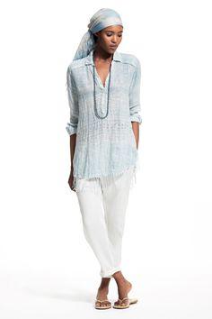 Lavisa Block Printed Linen Shirt.