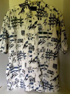 Mens Greg Norman Collection Short Sleeve 100 Cotton Summer Print Shirt Large | eBay