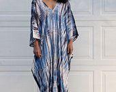 New Style Light blue Kaftan,Caftan, Plus size kaftan dress, Resort dress,Summer party dress, kaftan, Beach wear, Hand tie dyed loose dress
